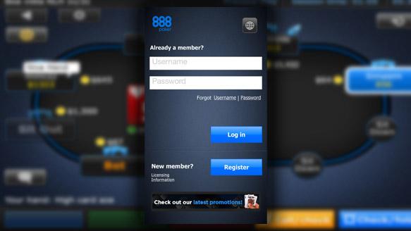 Регистрация в руме 888Покер.