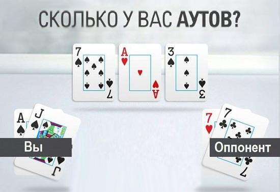 Что такое ауты в покере?